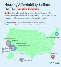 Trulia Heat Map Basic Costs Of Living Add Up To Three Quarters Of The Average La