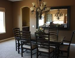 decorated dining rooms modern wall mirror decor dining room contemporary with wood trim