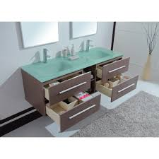 calypso 60 inch modern double sink bathroom vanity unique grey oak