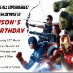 avenger birthday invitations birthday invites unique avengers