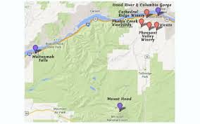 map of oregon wineries oregon s top tourist wine destinations