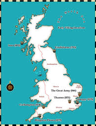A Map Of England by Medieval And Middle Ages History Timelines Viking Invasions