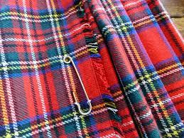 1970 u0027s wool tartan kilt skirt by laird portch of scotland in red