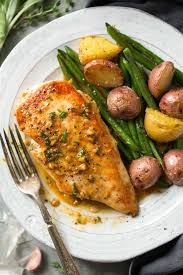skillet chicken with garlic herb butter sauce cooking classy