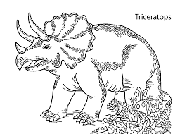 triceratops dinosaur smiling coloring pages for kids printable