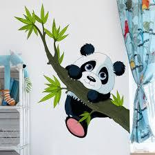 kinderzimmer wandtattoo wandtattoo kinderzimmer kletternder panda