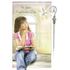 gifts for confirmation girl on your confirmation day card girl family catholic gifts