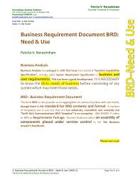 business requirement documents sample business documents sample