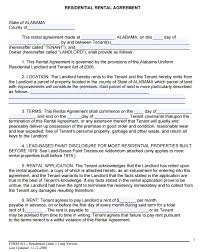 free alabama rental lease agreement form pdf template form