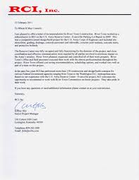 construction recommendation letter choice image letter samples