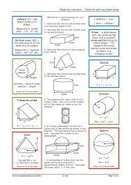 volume and surface area teachit maths