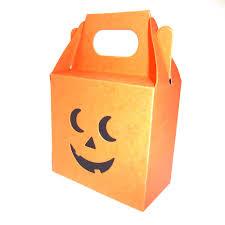 halloween pumpkin bag pumpkin sweetie box with double face ghoulish orange trick or treat