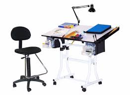 Drafting Table And Chair Set 4 Pc Creation Station Drafting Table W Drafting High