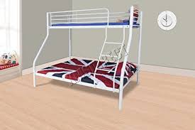 White Bunk Beds With Mattresses Amazoncouk - White bunk bed with mattress