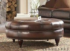 Leather Ottoman Round by Brown Round Leather Ottoman Round Ottoman W Bun Feet Home