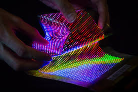 flexible led lighting film clothing into information displays