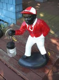 black lawn jockey statue historical cement trumps fav from