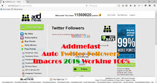 javascript imacros tutorial addmefast auto twitter followers imacros 2018 working 100 auto