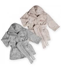 robe de chambre douce robe de chambre bébé personnalisé ourson brodé