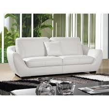 canape de luxe cuir canapé 3 places en cuir blanc julietta achat vente canapé sofa