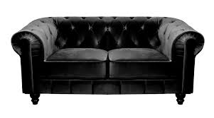canapé chesterfield velours deco in canape 2 places velours noir chesterfield can
