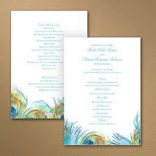 peacock wedding programs 45 best wedding program ideas images on craft wedding