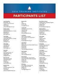 participants list national technical assistance center for