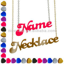 Acrylic Name Necklace Nc E6090 Name Necklace Of Plastic Acrylic Perspex Personalised