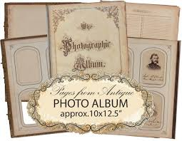 antique photo album photo album digital paper set instant