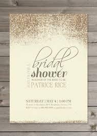 bridal shower invitation diy printable tan and gold glitter 5x7