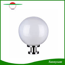 solar powered pillar lights china new round ball solar light outdoor waterproof solar powered