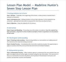 sample madeline hunter lesson plan u2013 10 documents in pdf word