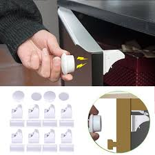 Magnetic Locks For Cabinets 8pcs Magnetic Child Lock Baby Safety Cabinet Lock Children