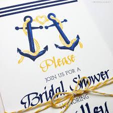 Wedding Invitations Nautical Theme - cute nautical bridal shower wedding invitations mospensstudio