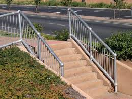 Galvanised Handrail Protection On The Ground Handrails Safety Bollards Drain