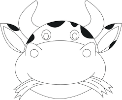 printable bull mask cow mask printable coloring page for kids as well as print design