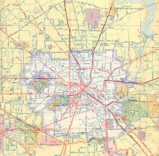 Map Houston Airport Texasfreeway U003e Houston U003e Historical Information U003e Old Road Maps