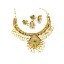 wedding gold set necklace sets wedding gold necklace set manufacturer from mumbai