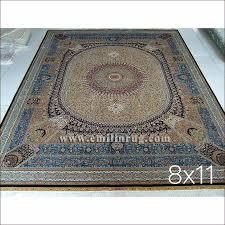 Handmade Iranian Rugs 1 8x11 Vintage Qum Living Room Oriental Silk Handmade Iranian
