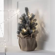 pre lit mini frosted artificial christmas tree by lights4fun