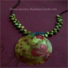 necklace pendant making images Making bead necklaces dollar store makeover jpg