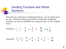 dividing a whole number by a fraction exles of multiplying fractions with whole numbers claudiubita