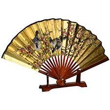 decorative fans 1 x large 60 folding wall fan prosperity blossoms