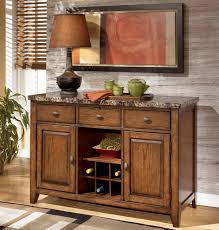 signature design by ashley lacey server with wine rack furniture