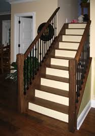 maple stair treads black metal spindles sudbury ontario stairs