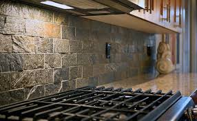 subway quartzite slate backsplash tile idea backsplash com