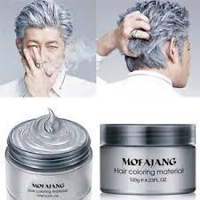 box hair color hair still gray unisex diy 120ml box grey hair color wax mud dye cream temporary
