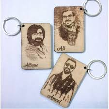 wooden keychains buy personalised wooden keychain with your photo and name online