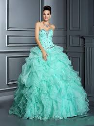 fashion mint green quinceanera dresses crystals sweetheart