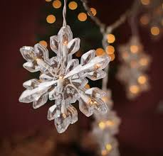 large snowflake string lights lighting and winter